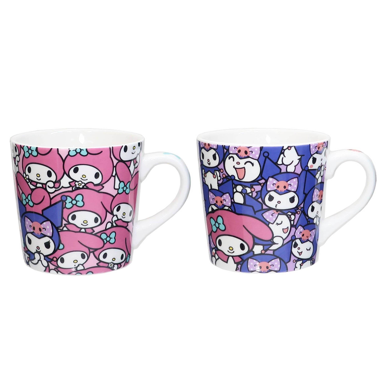 陶瓷馬克杯-美樂蒂 酷洛米 MY MELODY Kuromi 三麗鷗 Sanrio 日本進口正版授權