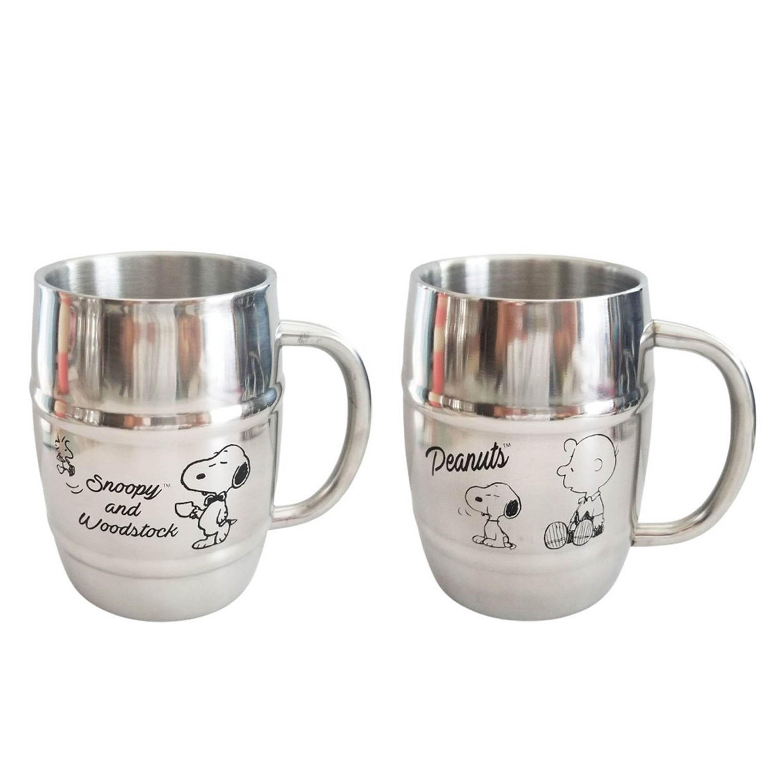 不鏽鋼桶型杯 450ml-史努比 SNOOPY PEANUTS 日本進口正版授權