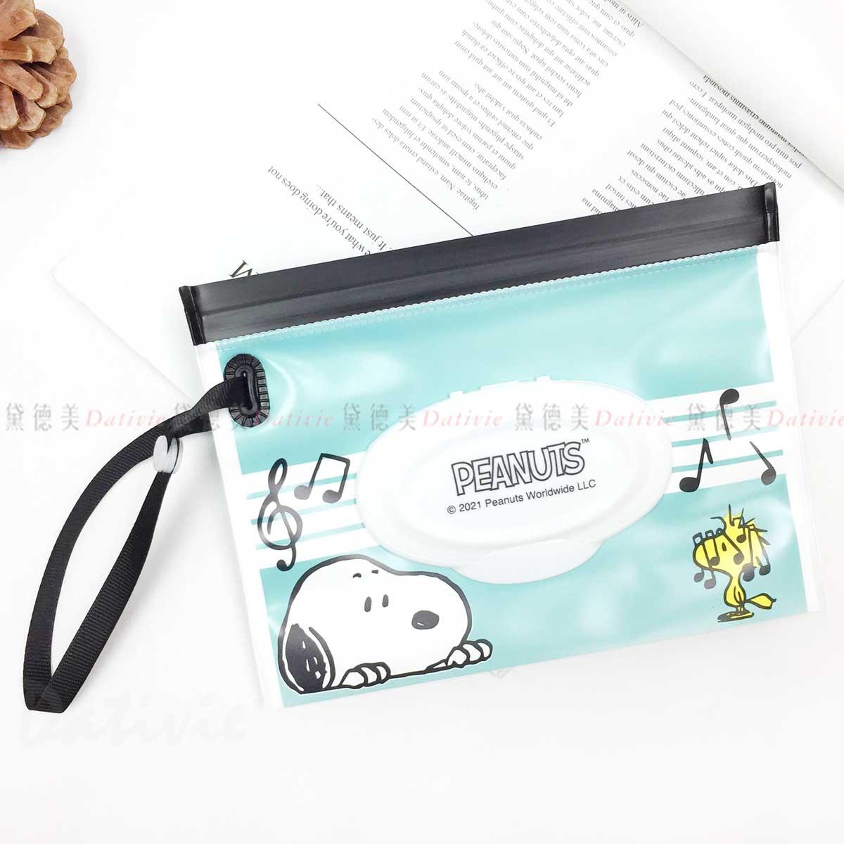 夾鏈袋防水濕紙巾包 M-史努比 SNOOPY PEANUTS 日本進口正版授權