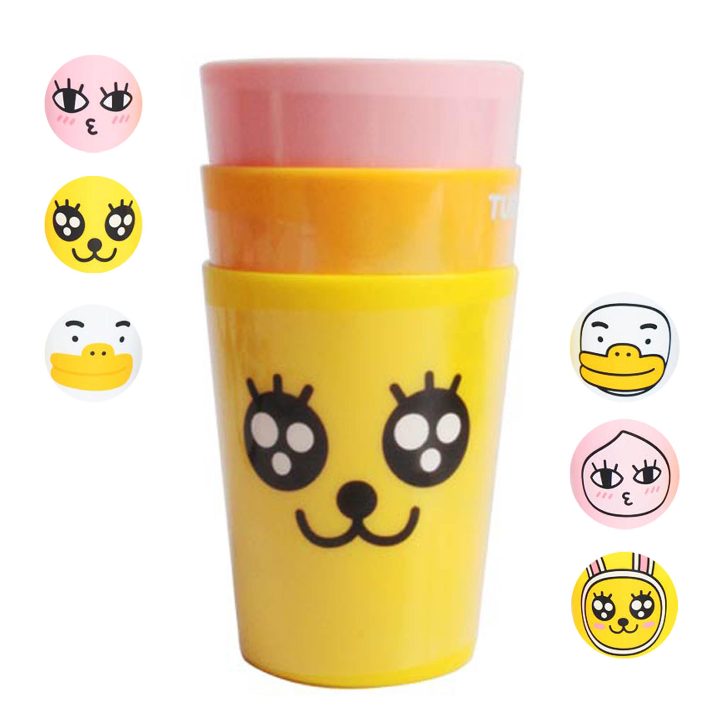 塑膠水杯 180ml 3入-Kakao Friends Apeach LILFANT 韓國進口正版授權