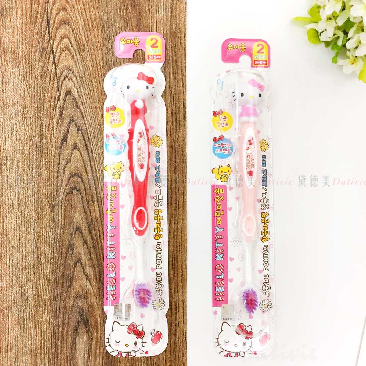 兒童牙刷-凱蒂貓 HELLO KITTY 三麗鷗 Sanrio 韓國進口正版授權