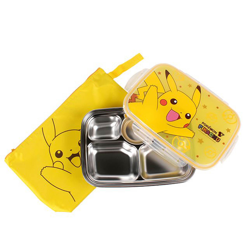 兒童餐盤-附收納袋 皮卡丘 神奇寶貝 寶可夢 POKEMON LILFANT 韓國進口正版授權