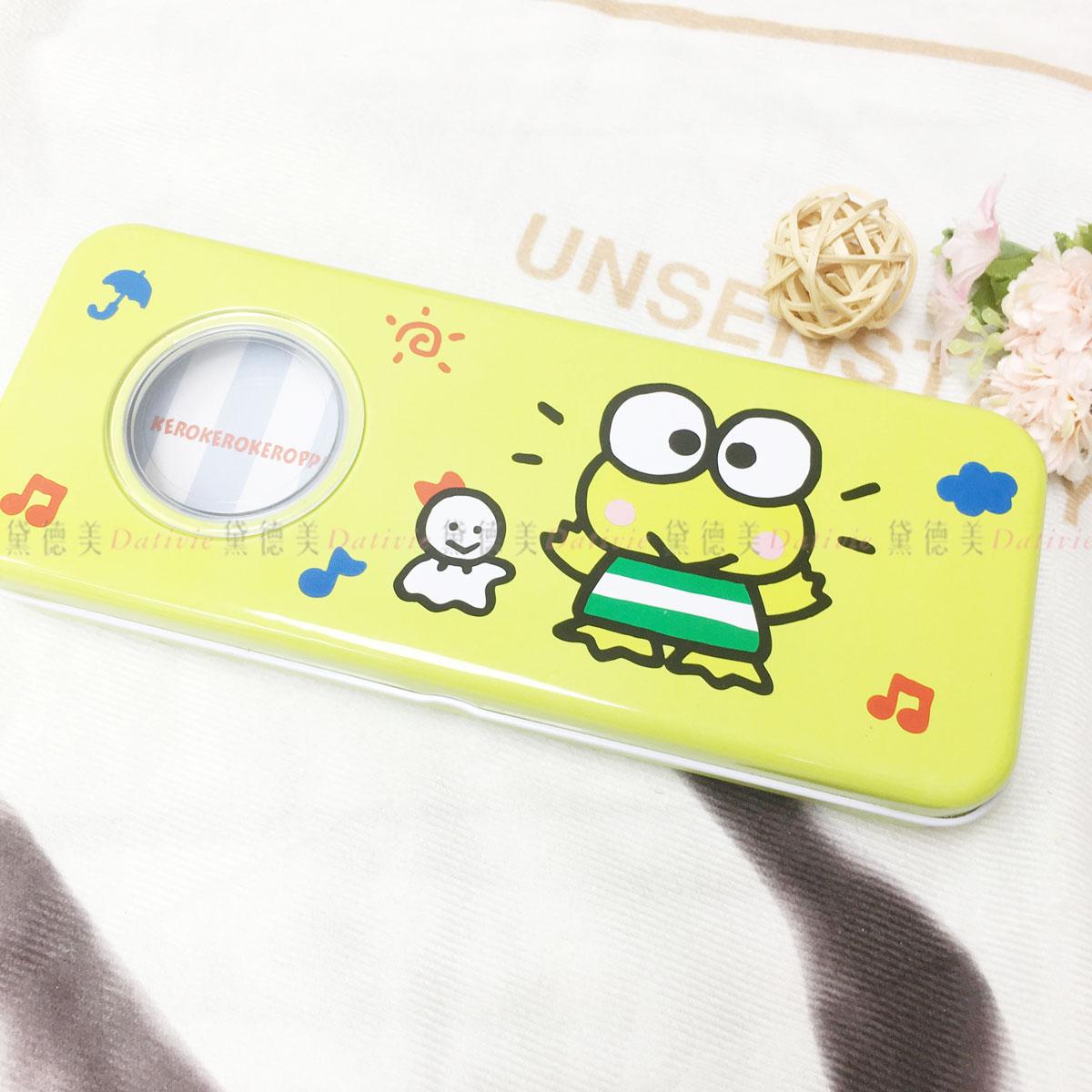 三麗鷗 大眼蛙 開窗鐵筆盒 雙層 正版授權