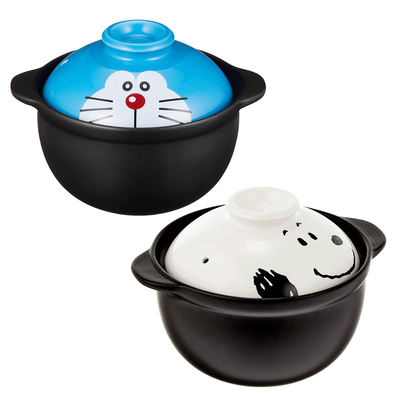造型陶瓷土鍋 650ml-史努比 哆啦A夢 DORAEMON SNOOPY PEANUTS 日本進口正版授權