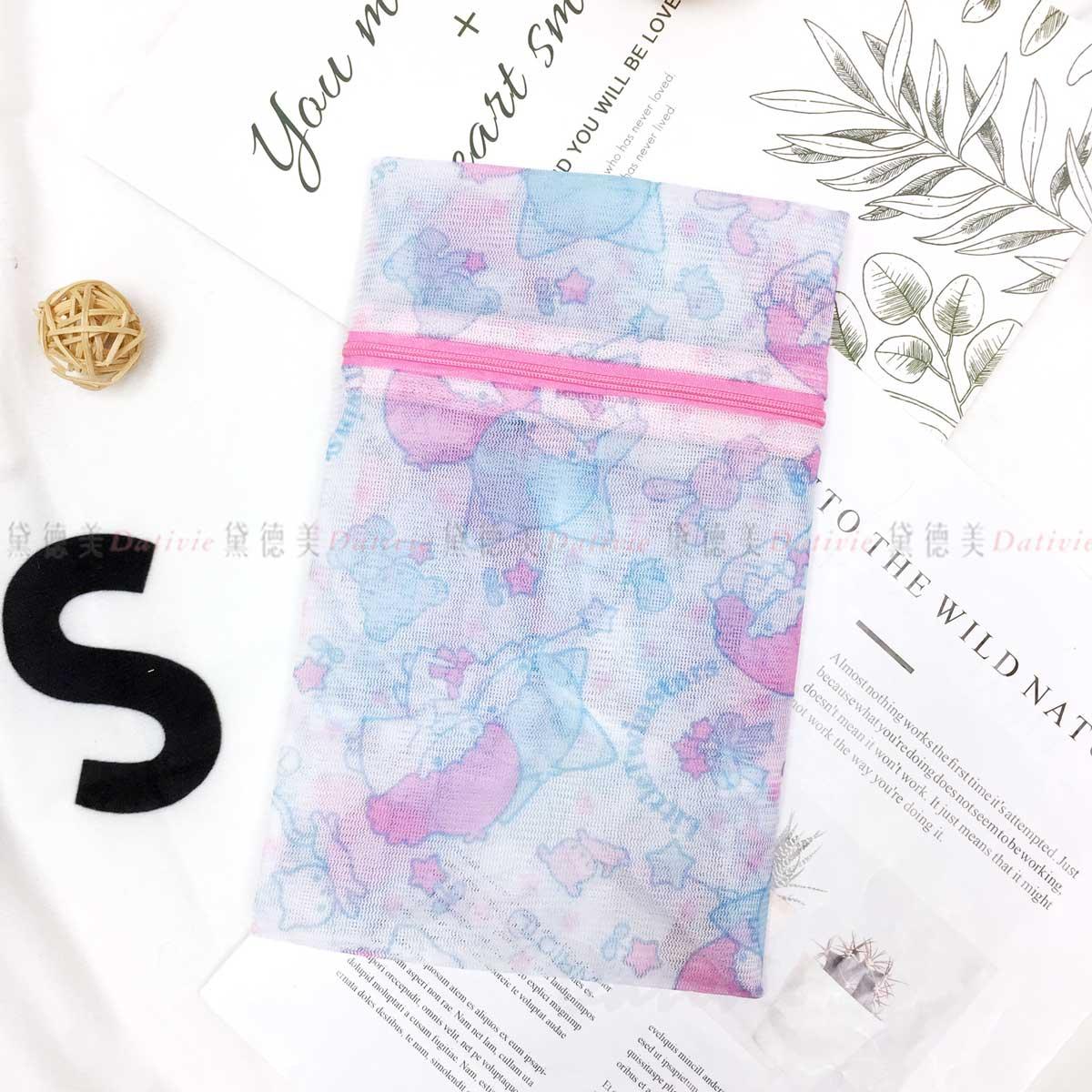 圓形立體洗衣袋 21x34cm-雙子星 LAUNDRY NET 三麗鷗 Sanrio 日本進口正版授權