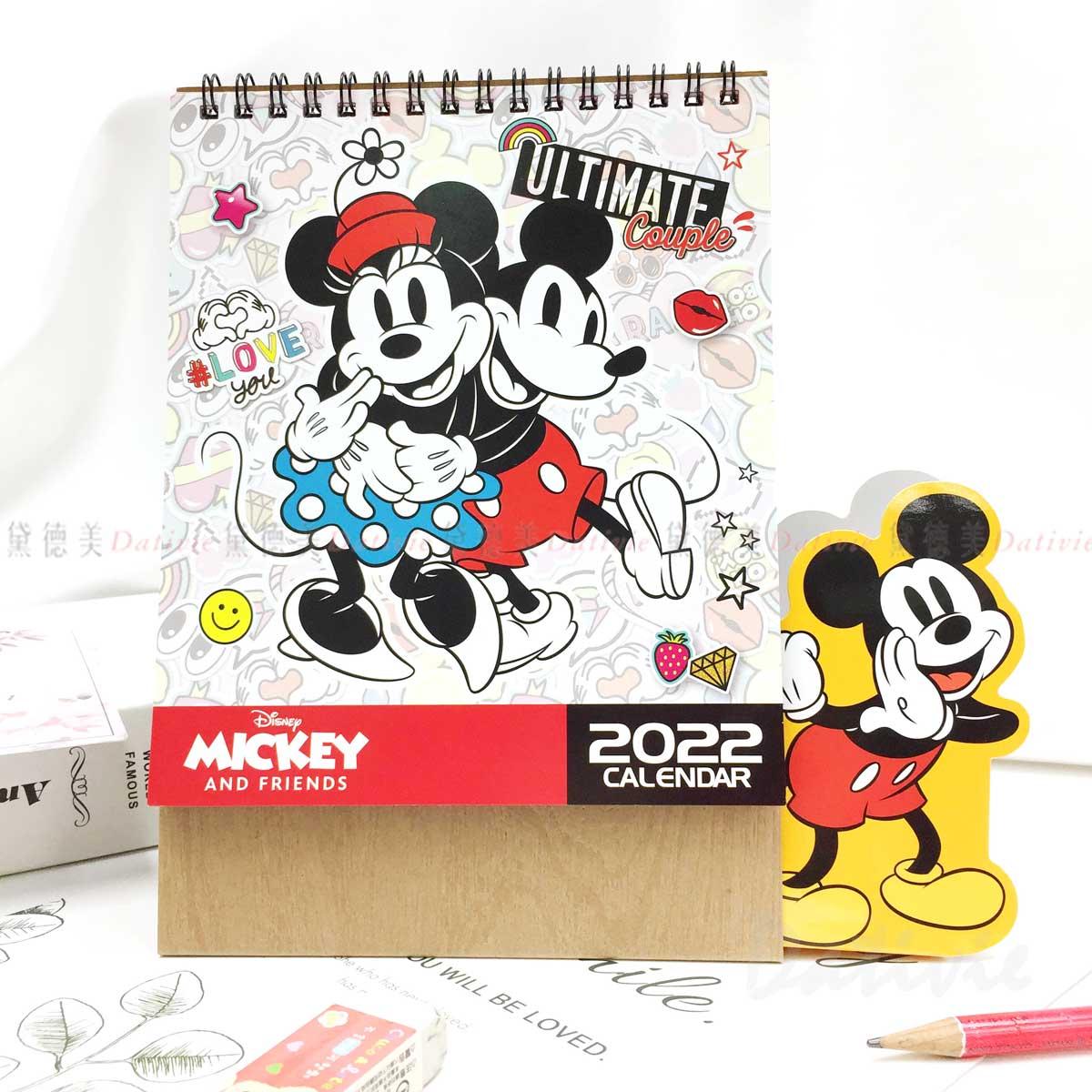 2022年 三角立體桌曆-米奇米妮 迪士尼 DISNEY 正版授權