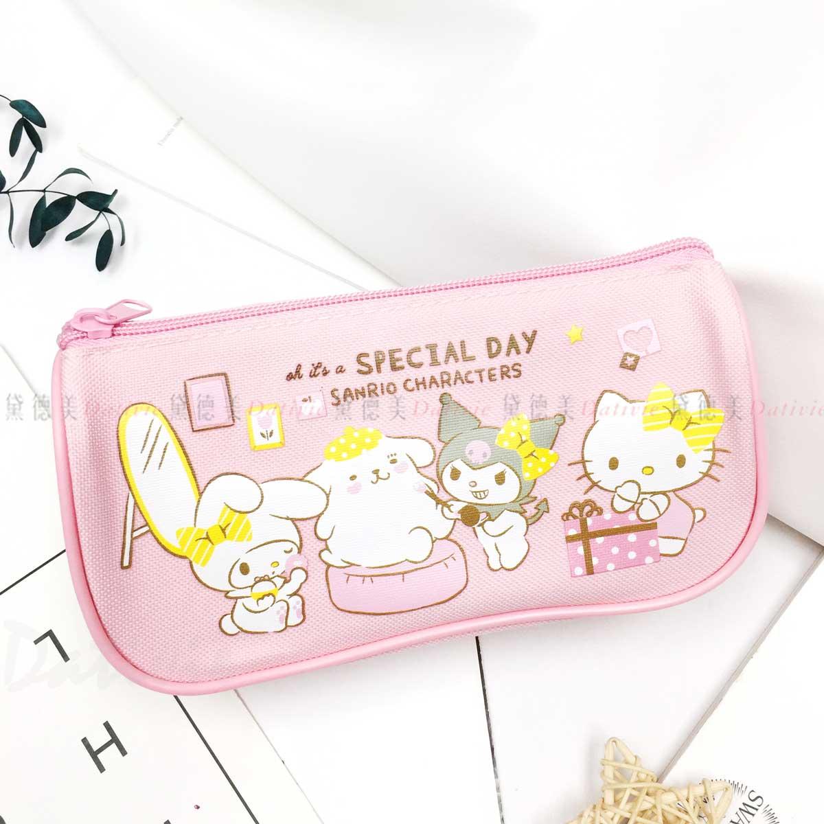 船型帆布筆袋-凱蒂貓 HELLO KITTY 三麗鷗 Sanrio 正版授權