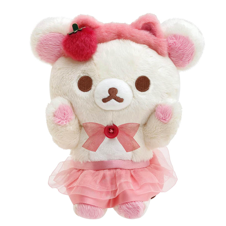 絨毛娃娃-拉拉熊 Rilakkuma Korilakkuma To Strawberry Cat SAN-X 日本進口正版授權