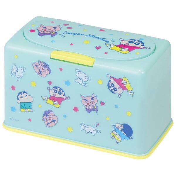 塑膠按壓彈蓋口罩盒-蠟筆小新 Crayon Shin-chan クレヨンしんちゃん 日本進口正版授權