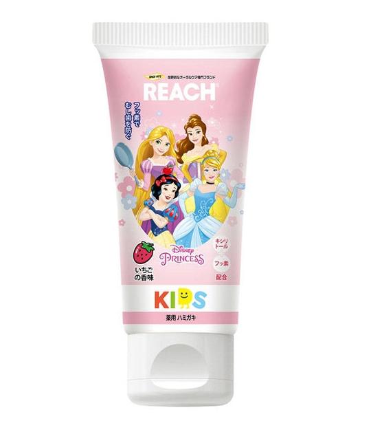 REACH 迪士尼公主 兒童牙膏 日本進口正版授權