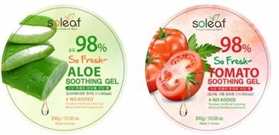 98%凝凍 Soleaf 韓國 蘆薈 番茄 滋養 保養肌膚 面膜 保濕 韓國製造進口