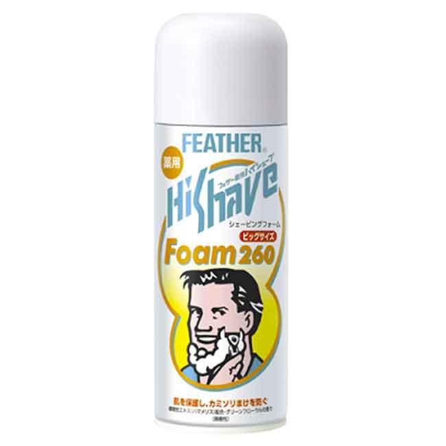 FEATHER Hi Shave 刮鬍泡 260g 日本製造進口