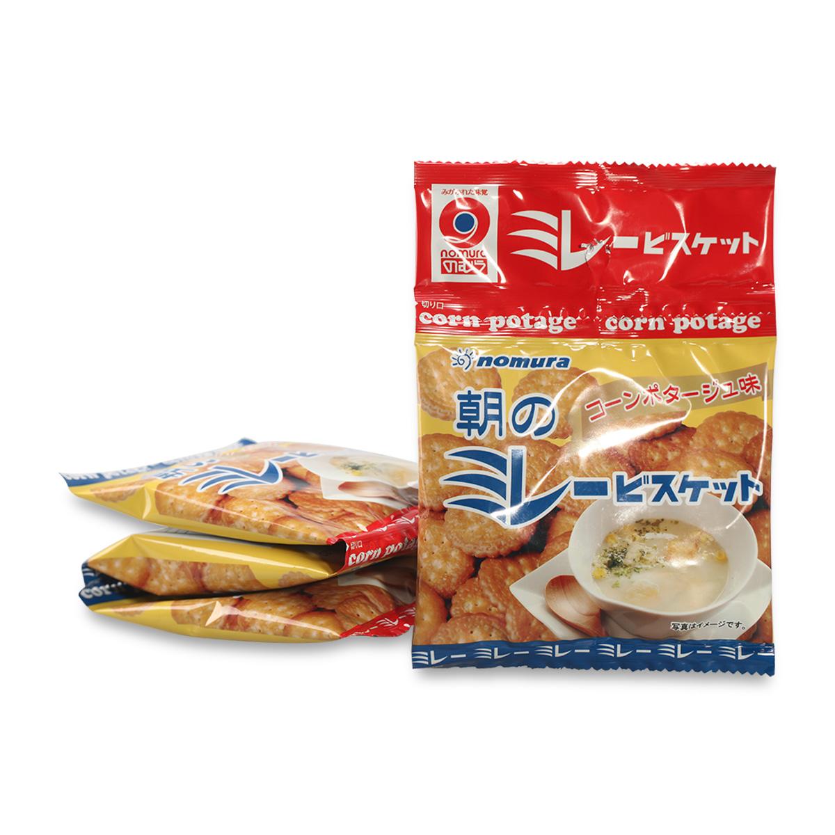 濃湯圓餅乾 四連包 玉米濃湯 日本進口