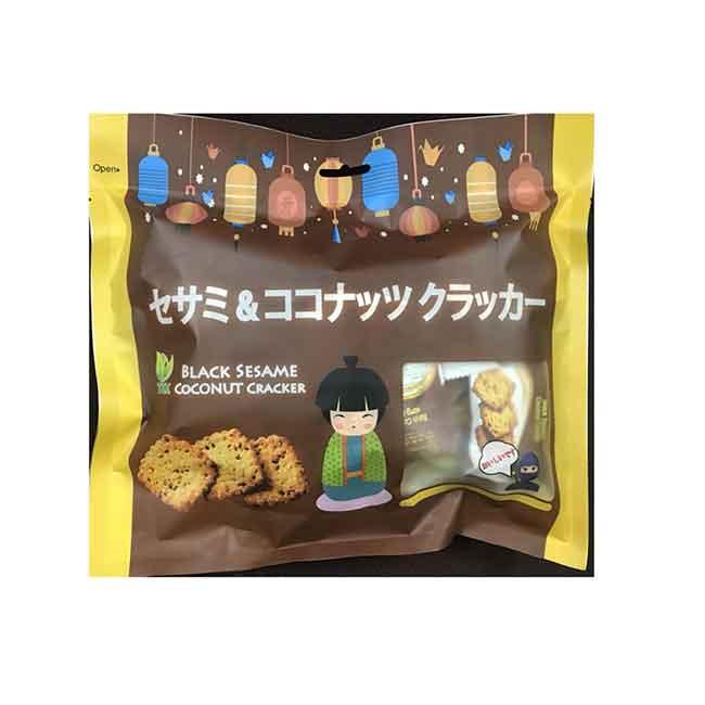黑芝麻口味 薄餅 零食 日本進口
