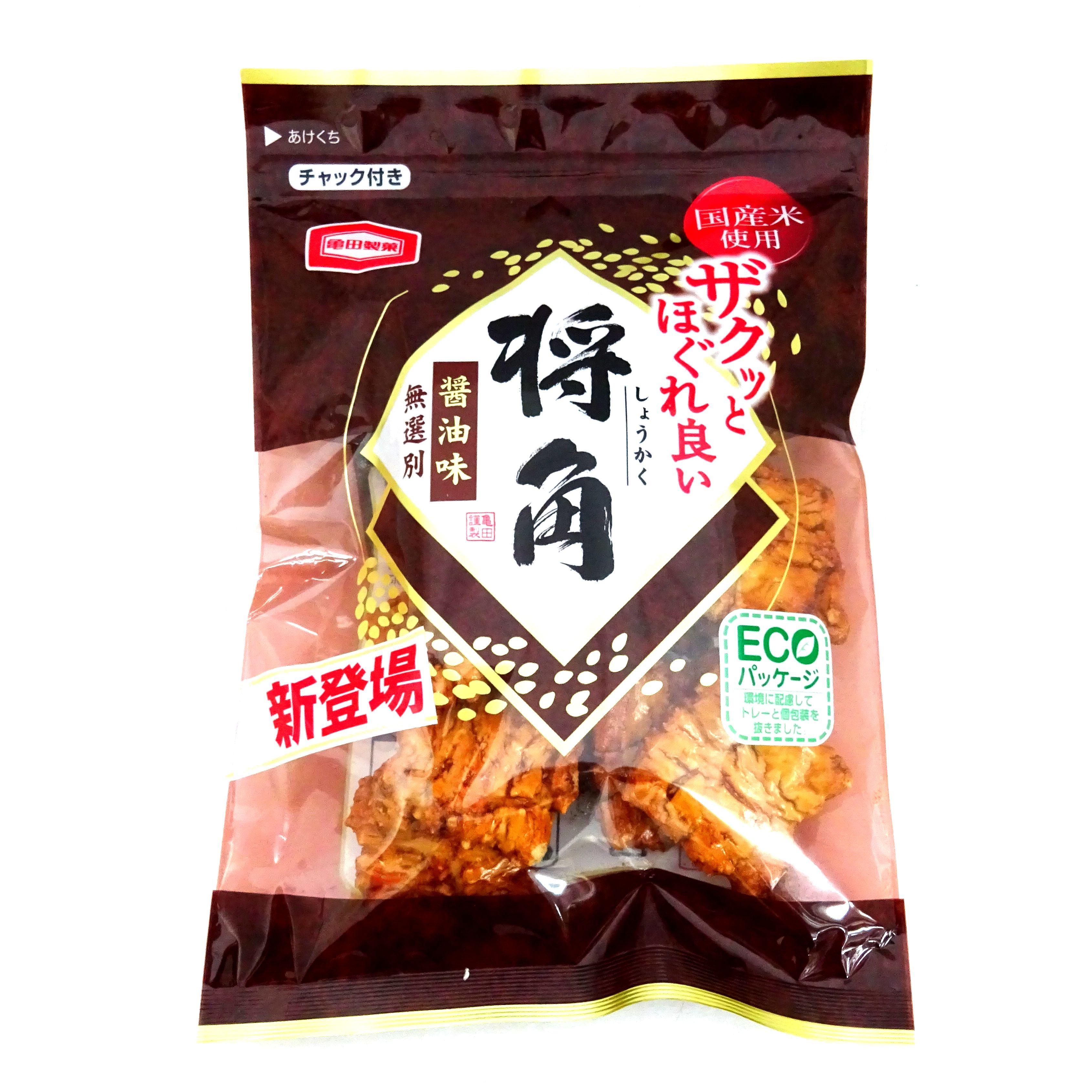 龜田將角醬油米果 餅乾 零食 日本進口