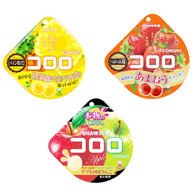 酷露露Q糖 日本 味覺糖 鳳梨 草莓 雙味蘋果 40g 日本製造進口
