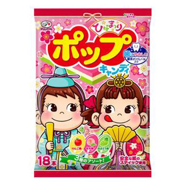 POP棒棒糖 日本 不二家 蘋果 水蜜桃 葡萄 104.4g 日本製造進口