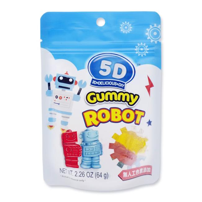 5D機器人造型軟糖 檸檬 草莓 藍莓 青蘋果 64g 馬來西亞製造進口