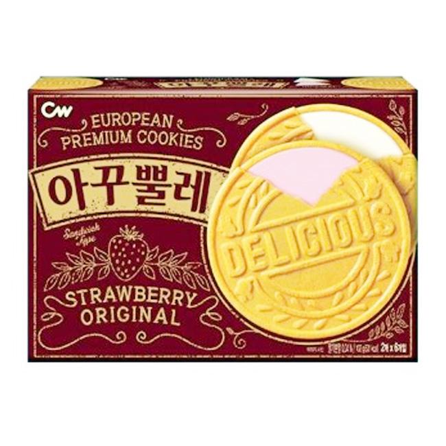 法蘭蘇薄餅 韓國 草莓 香草 6入/102g 韓國製造進口