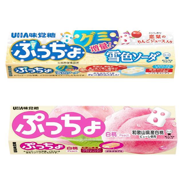 普超條糖 日本 味覺糖 雪色汽水 水蜜桃 軟糖 50g 日本製造進口
