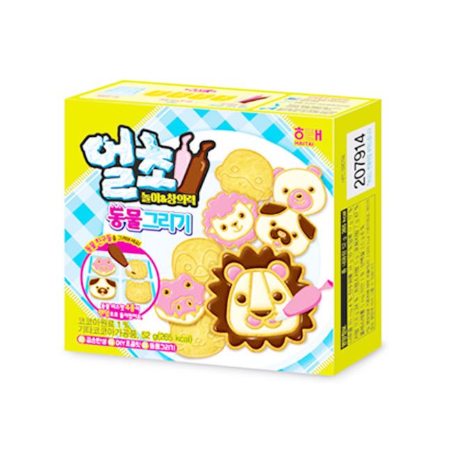 巧克力餅乾 韓國 DIY 動物造型 52g 韓國製造進口