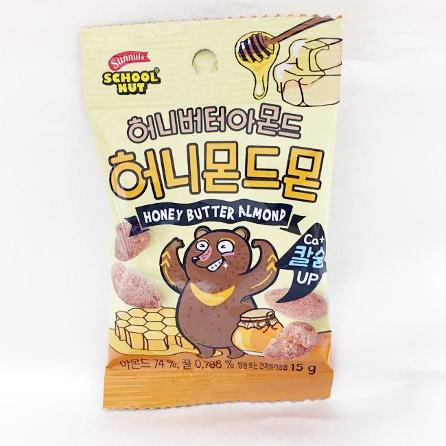 兒童蜂蜜奶油杏仁果 韓國 Sunnuts 零食 零嘴 15g 韓國製造進口