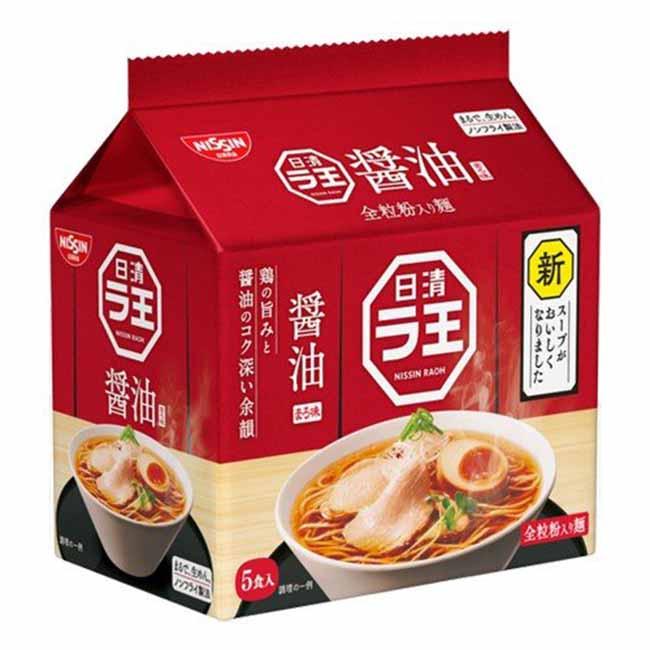 5食袋裝麵 醬油風味 日清泡麵 日本製造進口