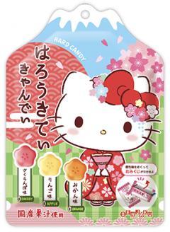 扇雀飴凱蒂貓果汁味糖  零食 日本進口