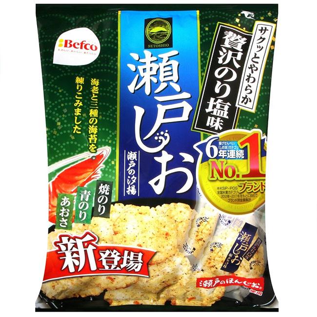 海苔鹽味海老米果 栗山瀨戶汐揚 仙貝 83g 日本製造進口