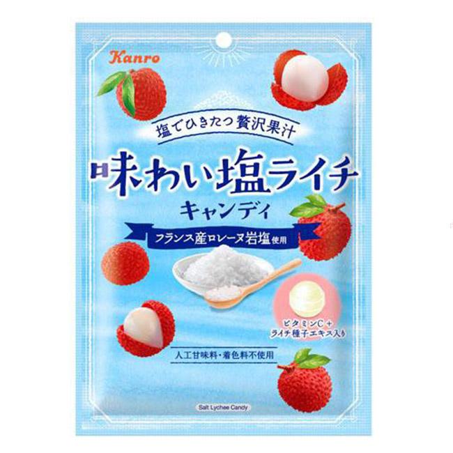 鹽味荔枝糖 Kanro 糖果 62.7g 日本製造進口