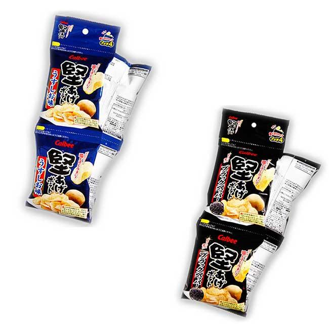 4連薯片 Calbee 餅乾 日本製造進口