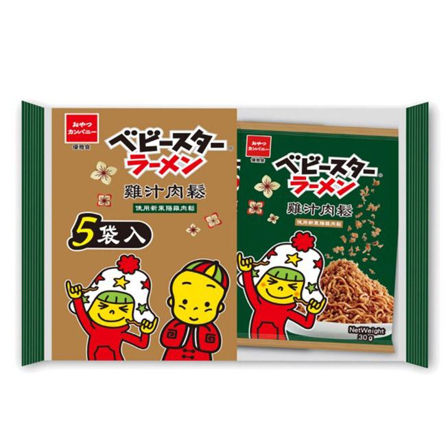 點心麵-雞汁肉鬆五入分享包 優雅食 OYATSU 30gx5入 點心餅 新東陽雞肉鬆 台灣製造