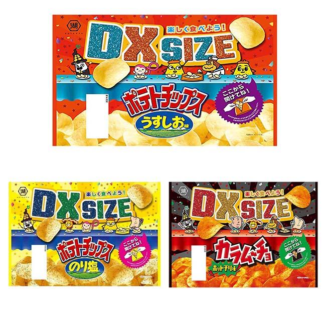 超大包DX SIZE洋芋片 湖池屋 鹽味 海苔 卡辣姆久 3款 大包裝 薯片 洋芋片 190g/185g 日本製造進口