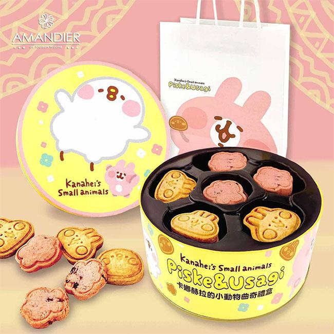 曲奇餅乾禮盒 附紙袋 卡納赫拉 牛奶 蔓越莓 共2種口味 260g 台灣製造