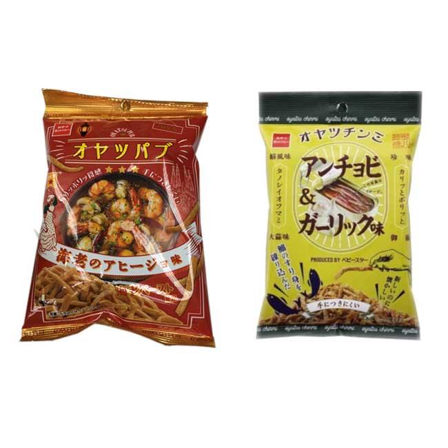 點心脆條 西班牙蒜蝦風味 蒜香漬魚風味 日本製造進口