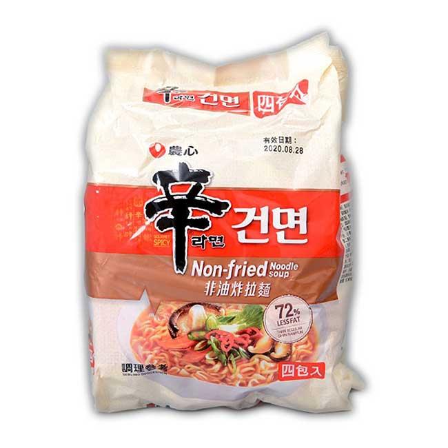 農心 非油炸辛拉麵 四包入 韓國製造進口