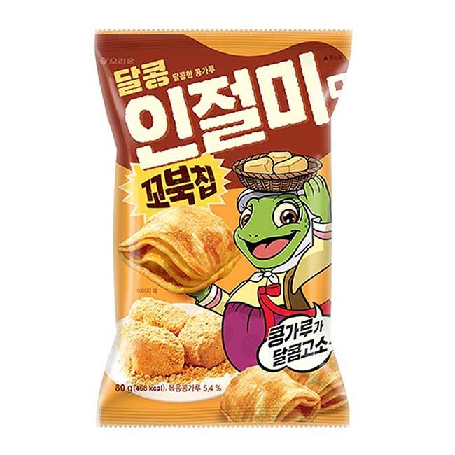 烏龜玉米脆片 韓國烤麻糬風味 好麗友 餅乾 韓國進口