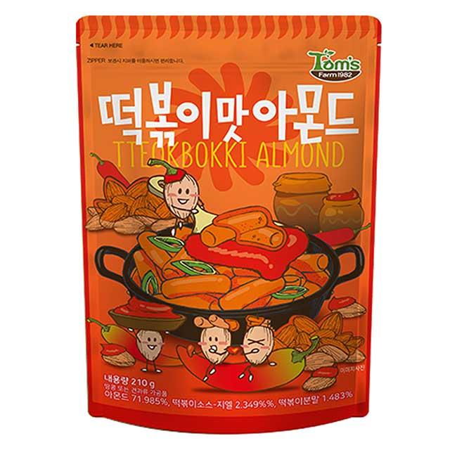 杏仁果 Tom's 辣炒年糕味 210g 韓國進口製造