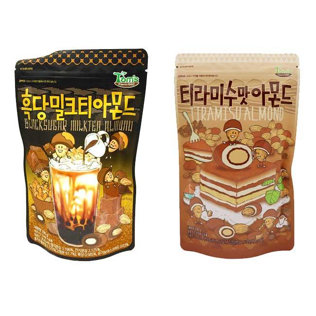 Tom's 杏仁果 提拉米蘇 黑糖奶茶 韓國進口製造