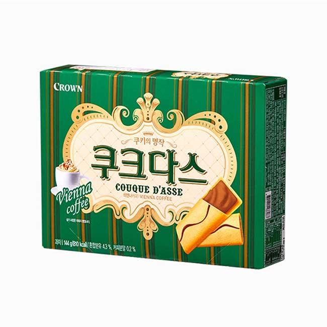 咖啡薄燒夾心餅 Crown 韓國進口製造