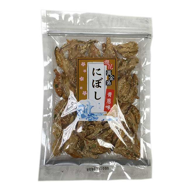 櫻花蝦青蔥黃金魚 150g 台灣製造