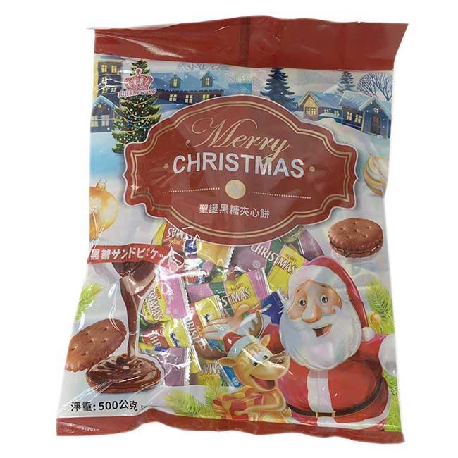聖誕黑糖夾心餅 merry christmas 馬來西亞進口製造