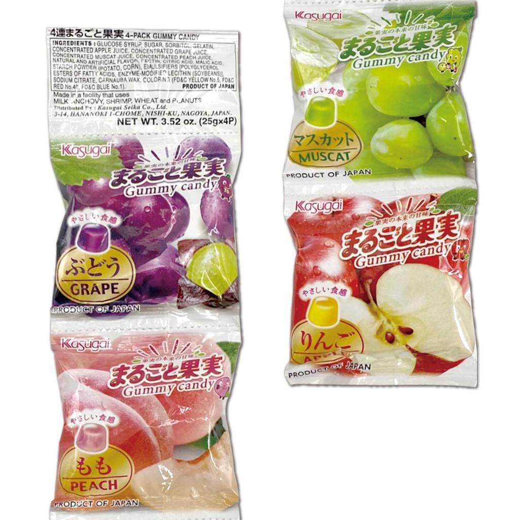 綜合水果軟糖 蘋果 葡萄 桃子 四連包 日本進口