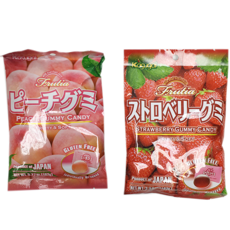 春日井 草莓 水蜜桃 QQ糖 軟糖 獨立包裝 日本進口