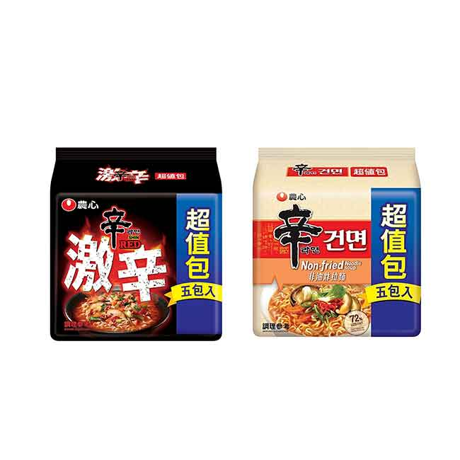 辛拉麵超值包 農心 激辣 非油炸 五包入 韓國製造進口