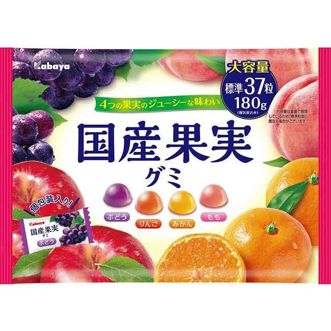 水果軟糖 橘子味 葡萄味 蘋果味 桃子味 日本進口製造
