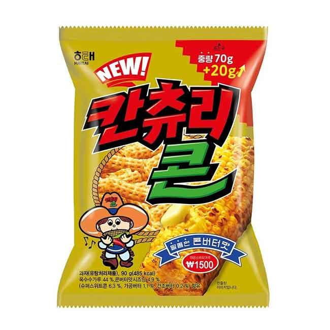 奶油風味玉米脆片 90g 餅乾 韓國製造進口