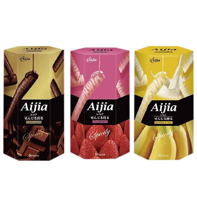 Aijia日式煎捲 巧克力 草莓巧克力 香蕉牛奶巧克力 日式巧克力
