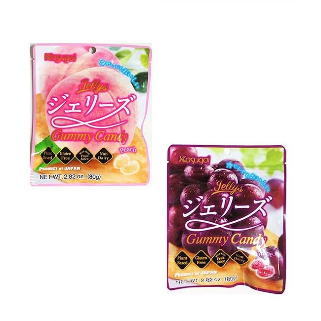春日井軟糖 葡萄 白桃 80G 糖果 日本製造進口