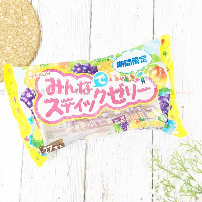 綜合水果果凍條 葡萄 芒果 鳳梨 甜點 日本製造進口